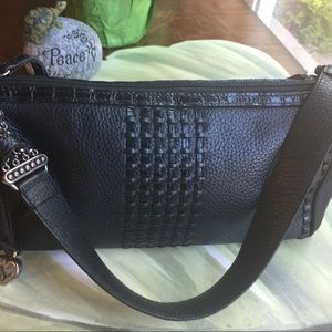 BRIGHTON BLACK LEATHER BAG